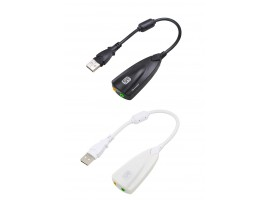 Звуковая карта USB внешняя 5HV2 адаптер аудио гарнитура 3,5мм