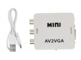 AV2VGA видео конвертер AV-RCA-CVBS к VGA с 3,5 мм аудио