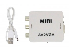 AV2VGA відео конвертер AV-RCA-CVBS до VGA з 3,5 мм аудіо