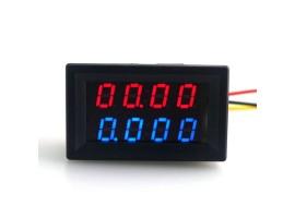 Цифровой Вольтметр - Амперметр постоянного тока 100В 10A