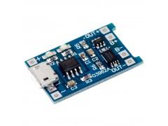 Зарядное устройство micro-USB TP4056 для литиевых аккумуляторов с защитой